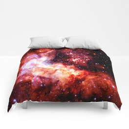 Celestial Fireworks Red Orange Comforters