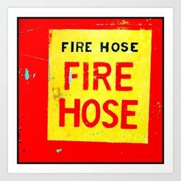 Fire Hose Art Print