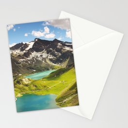 Alps aerial view Stationery Cards