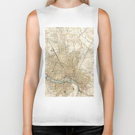 Vintage Map of Richmond Virginia (1934) Biker Tank
