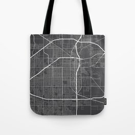 Lubbock Map, USA - Gray Tote Bag