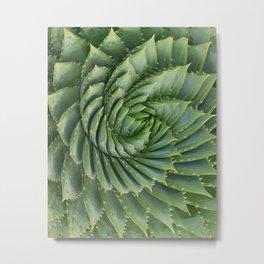 Green spirale Metal Print