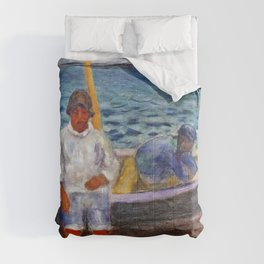 Pierre Bonnard - Fishermen - Digital Remastered Edition Comforters