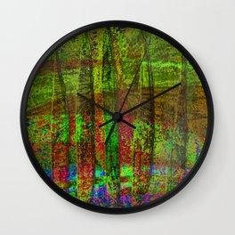 Luminous Landscape Abstract Wall Clock