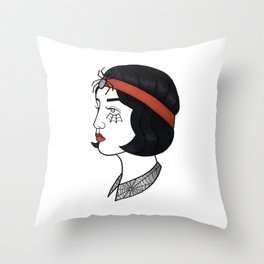 spider spook Throw Pillow