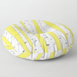 Aspen Forest - Yellow Floor Pillow