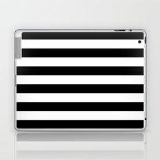 Stripe Black & White Horizontal Laptop & iPad Skin