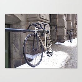 Bicycle in Winter Canvas Print