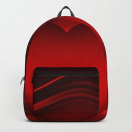 Red heart 16 Backpack