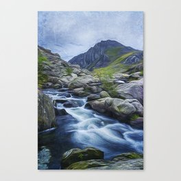 Tryfan Painting Canvas Print