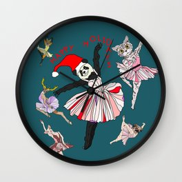 Hipster Holiday Ballerinas Wall Clock
