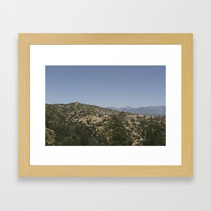 To The Hills Framed Art Print