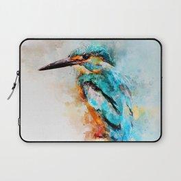 Watercolor kingfisher bird Laptop Sleeve