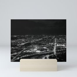 View of East Melbourne and surrounds from the Eureka Skydeck Mini Art Print