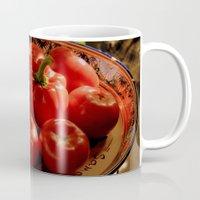 vegetables Mugs featuring Red vegetables by Svetlana Korneliuk