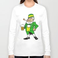 patrick Long Sleeve T-shirts featuring St. Patrick by Rab Sizzle