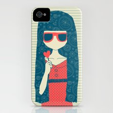 Lollipop girl iPhone (4, 4s) Slim Case