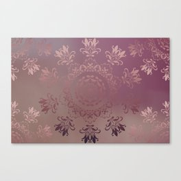 Rose Gold Blossoms Canvas Print
