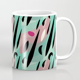 Splatter Burn on Neon Aqua Coffee Mug