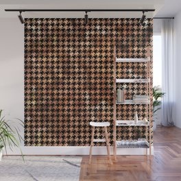 Houndstooth Brown and Black Wall Mural