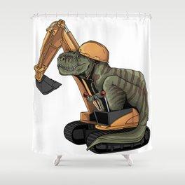 T-rex Dinosaur Shower Curtain