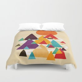 Let's visit the mountains Duvet Cover