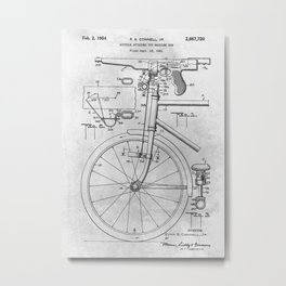 Bicycle attached toy machine gun Metal Print