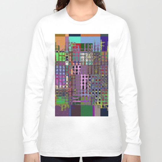 Pastel Playtime - Abstract, geometric, textured, pastel themed artwork Long Sleeve T-shirt