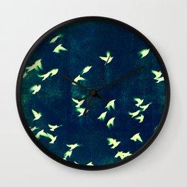 Retro Birds Wall Clock