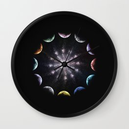 Twelve Moons Wall Clock