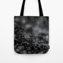 Snowflakes on a cold February Tote Bag