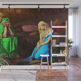 Belisane & Parcival under the Enchantment of Urma Portrait by Jeanpaul Ferro Wall Mural