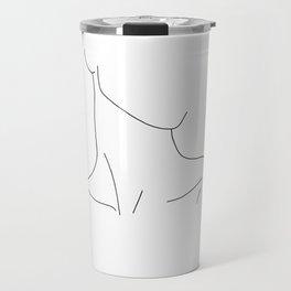 Neckline collar bones drawing - Gwen Travel Mug