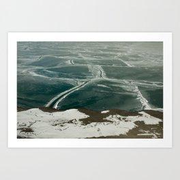 Lake Michigan, Frozen Art Print