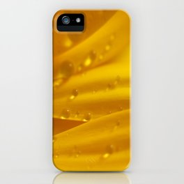 Yellow Gerber Daisy Petals iPhone Case