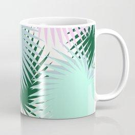 Rose Mint Tropical Leaves Coffee Mug