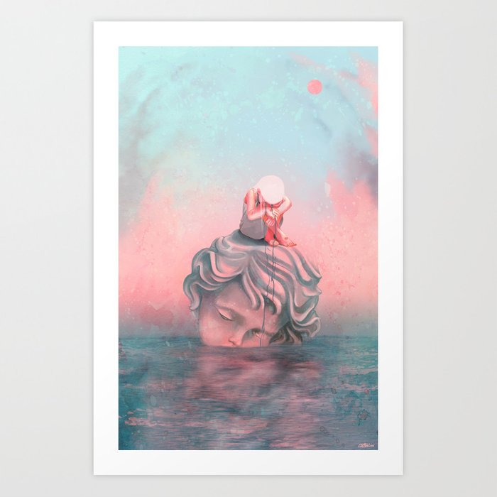 Estatua de sal Art Print