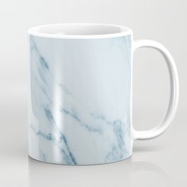 Teal Swirl Marble Coffee Mug