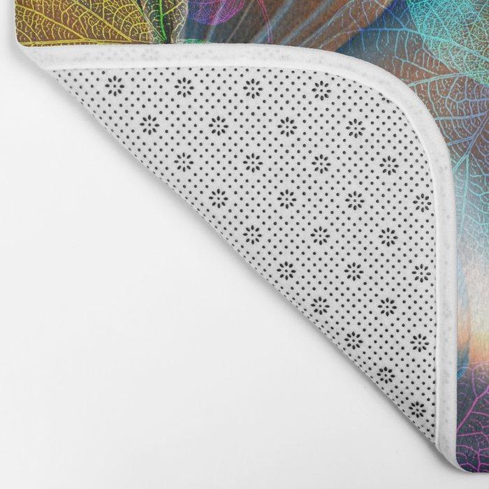 Floral abstract(48). Bath Mat