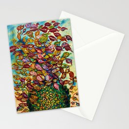 Le grand flower bouquet in vase by Seraphine Louis Stationery Cards