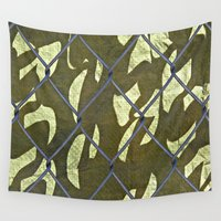 camouflage Wall Tapestries featuring Camouflage  by Ethna Gillespie