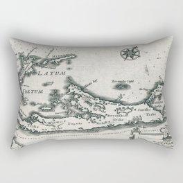 Vintage Map of Bermuda (1636) Rectangular Pillow