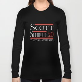 scott schrute 20 thats what she said nerd Long Sleeve T-shirt