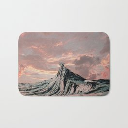 WAVE # 2 - sky Bath Mat