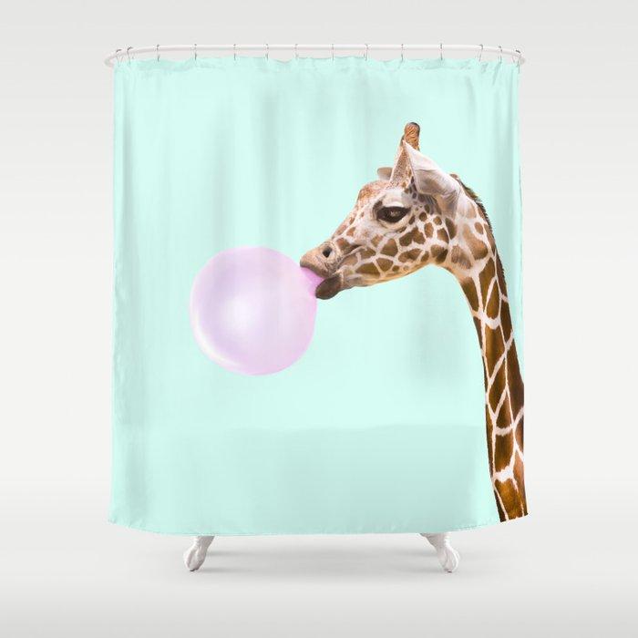 Delightful GIRAFFE Shower Curtain