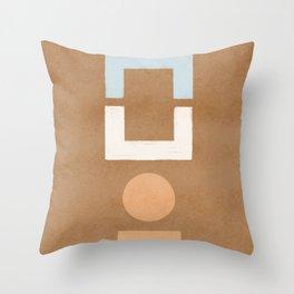 Geometrical balance - minimalist design Throw Pillow