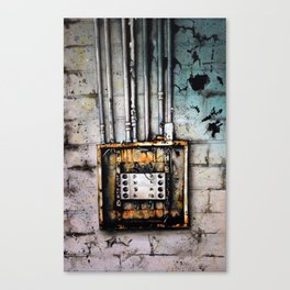 Watercolor | Urban Exploration | Abandoned - Electrical Canvas Print