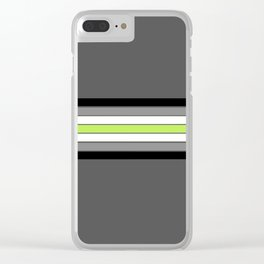 Agender Flag Clear iPhone Case