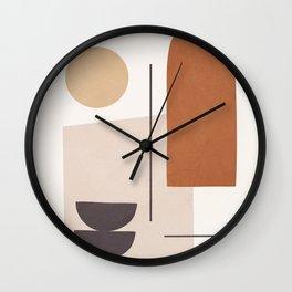 Minimal Shapes No.43 Wall Clock