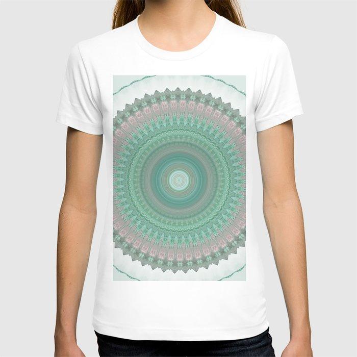 Sage Pastel Mandala Design T-shirt